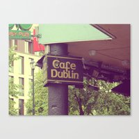 irish Canvas Prints featuring Irish Pub by Eirin Wie Haveland