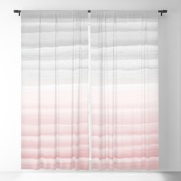 Touching Blush Gray Watercolor Abstract Stripe #1 #painting #decor #art #society6 Blackout Curtain