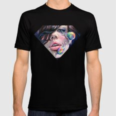 Thirsty Snails Mens Fitted Tee Black MEDIUM