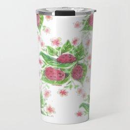 Cardinal Ladybug Pattern Travel Mug