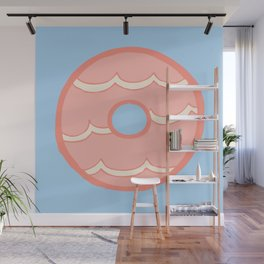Pink Party Ring Biscuit Wall Mural