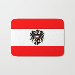 Austrian Flag and Coat of Arms Bath Mat