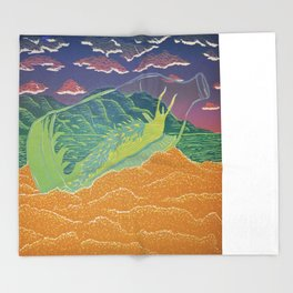 Santa Cruz Nudibranch Throw Blanket