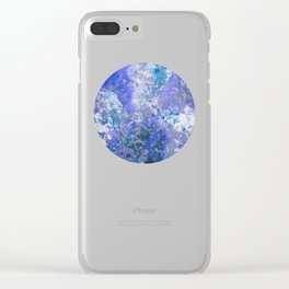 Cornflower Blue Abstract Painting Clear iPhone Case