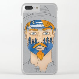 Forest Man Clear iPhone Case