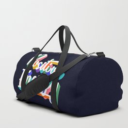 Positive Energy- typography Duffle Bag