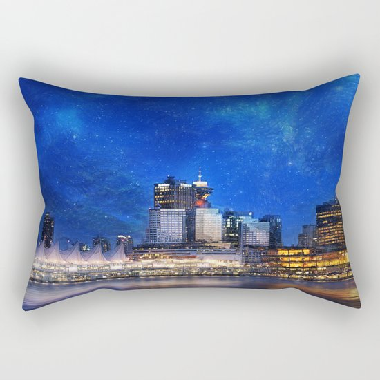 Canada At Night Rectangular Pillow
