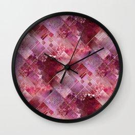 Marbleized Strawberry Wall Clock