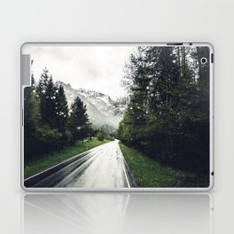 Down the Road - Mountains, Forest, Austria Laptop & iPad Skin