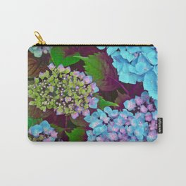 Hydrangea Pink and Blue Carry-All Pouch