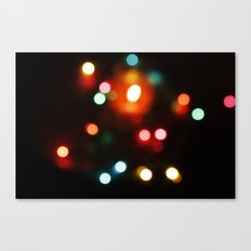 Blurred lights Canvas Print