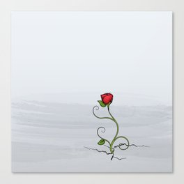 The Rose that Grew from Concrete Canvas Print