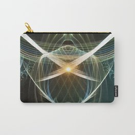 Abstract, colorful glowing lines  Carry-All Pouch