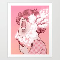 writer Art Prints featuring AIR WRITER by Isa Ibaibarriaga