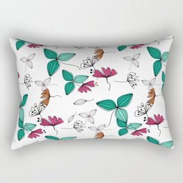 Retro .Floral pattern Rustic Rectangular Pillow