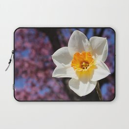 Daffodil with Cherry Blossoms Laptop Sleeve