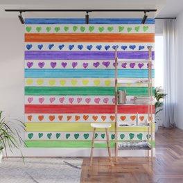 LOVE STRIPES Wall Mural