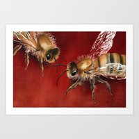bees Art Prints featuring Bees by Dana Martin