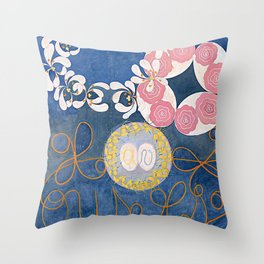 The Ten Largest No. 01 Childhood Group IV Hilma Af Klint Throw Pillow