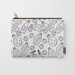 Magic bottles pattern on light pink background Carry-All Pouch