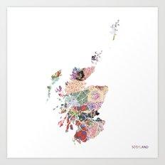 Scotland map  Art Print