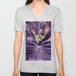 Purple Euphorbia in Detail Unisex V-Neck