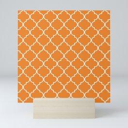 Quatrefoil - Apricot Mini Art Print
