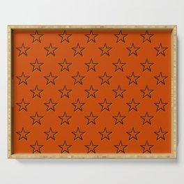 Orange stars pattern Serving Tray