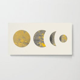 Abstraction_Lunar_Eclipse_Minimalism_001 Metal Print