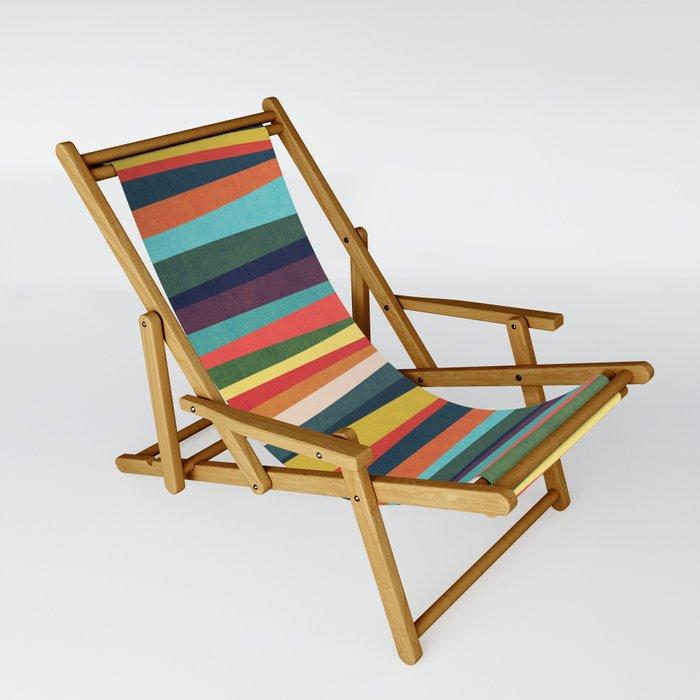 Mid-century zebra Sling Chair