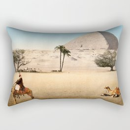 Vintage Pyramid : Grand Pyramid Gizeh Egypt 1895 Rectangular Pillow