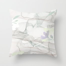 Saletta Home Decor Floral Echoes   Throw Pillow