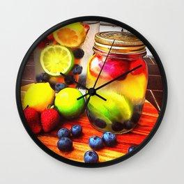 Fruitful Goodness Wall Clock