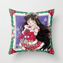 Merry Xmas Rei Throw Pillow