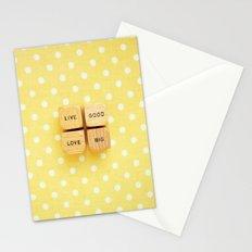 Live Good Love Big Stationery Cards