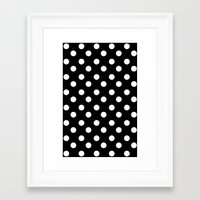 polka Framed Art Prints featuring POLKA by Monica Curugiu