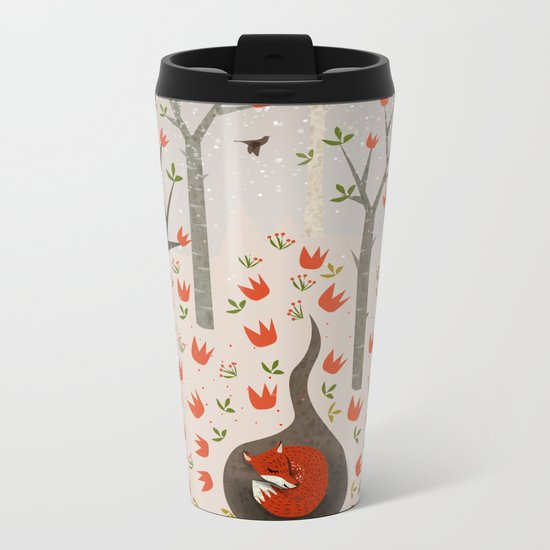 Sleeping Fox Metal Travel Mug