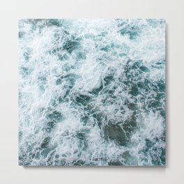 Waves in Abstract Metal Print