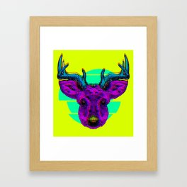 Future Deer Framed Art Print