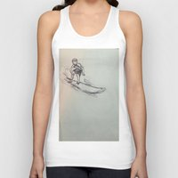 surfing Tank Tops featuring SURFING by Katyb