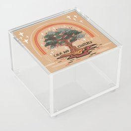 Calm and centered Acrylic Box