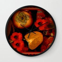 Persimmons Wall Clock
