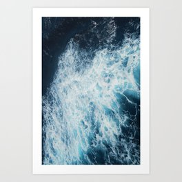 Seafoam blue sea Art Print