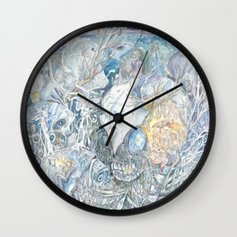 Camping in the remains Wall Clock