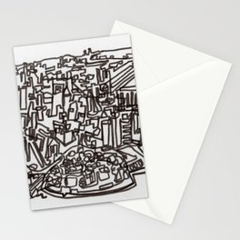 Lower Manhattan Line Stationery Cards