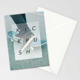 K I C K P U S H . Stationery Cards