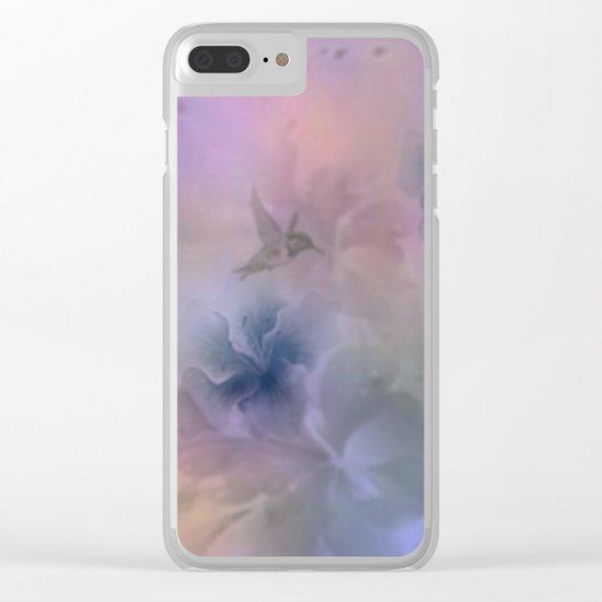 Hummingbird Dreams Clear iPhone Case