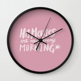 Mercy Morning x Rose Wall Clock