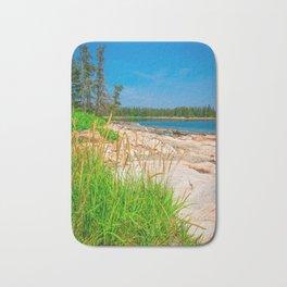 Acadia National Park Beach View Grass Bath Mat