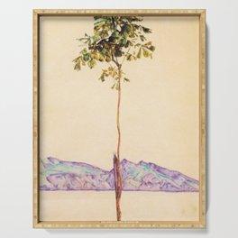 Egon Schiele - Little tree (new editing) Serving Tray
